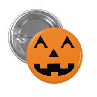 Halloween Jack O Lantern Pumpkin Face 1 Inch Round Button