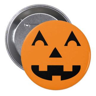 Halloween Jack O Lantern Pumpkin Face 3 Inch Round Button