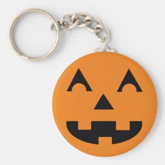 Halloween Jack O Lantern Pumpkin Face Basic Round Button Keychain