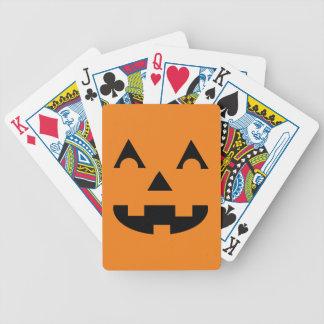 Halloween Jack O Lantern Pumpkin Face Bicycle Poker Deck