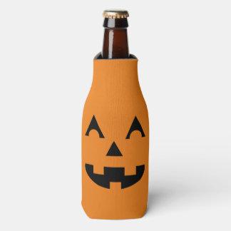 Halloween Jack O Lantern Pumpkin Face Bottle Cooler