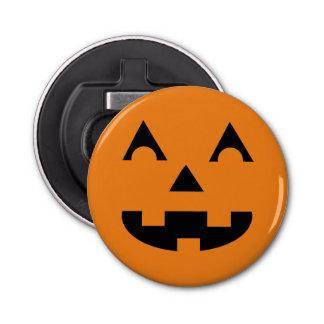 Halloween Jack O Lantern Pumpkin Face Button Bottle Opener