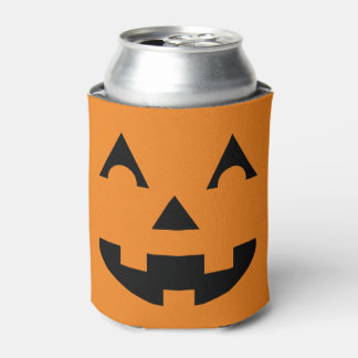 Halloween Jack O Lantern Pumpkin Face Can Cooler