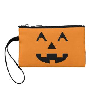 Halloween Jack O Lantern Pumpkin Face Coin Wallets