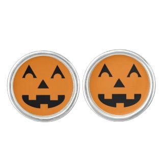 Halloween Jack O Lantern Pumpkin Face Cufflinks