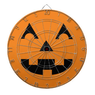 Halloween Jack O Lantern Pumpkin Face Dart Boards