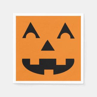 Halloween Jack O Lantern Pumpkin Face Disposable Napkins