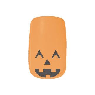 Halloween Jack O Lantern Pumpkin Face Nail Wrap