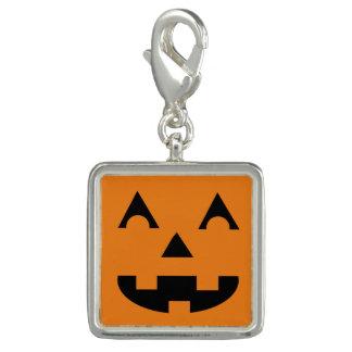 Halloween Jack O Lantern Pumpkin Face Photo Charms
