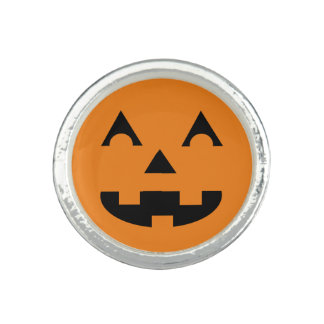 Halloween Jack O Lantern Pumpkin Face Photo Ring