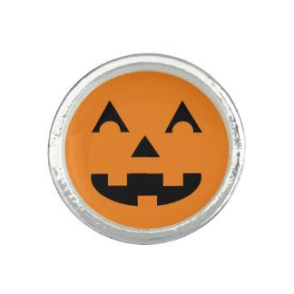 Halloween Jack O Lantern Pumpkin Face Photo Ring