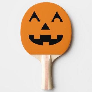 Halloween Jack O Lantern Pumpkin Face Ping-Pong Paddle