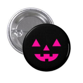 Halloween Jack O Lantern Pumpkin Face Pink Pin