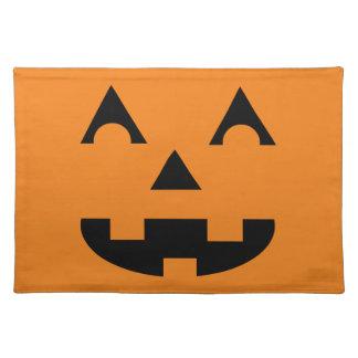 Halloween Jack O Lantern Pumpkin Face Place Mats