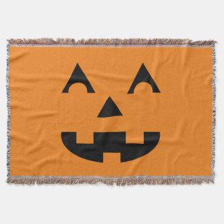 Halloween Jack O Lantern Pumpkin Face Throw