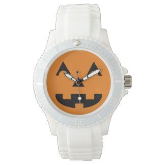 Halloween Jack O Lantern Pumpkin Face Wrist Watch