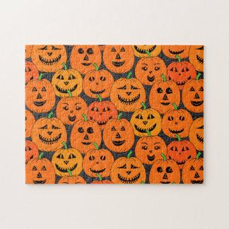 Halloween Jack-o'-lantern Pumpkin Jigsaw Puzzle