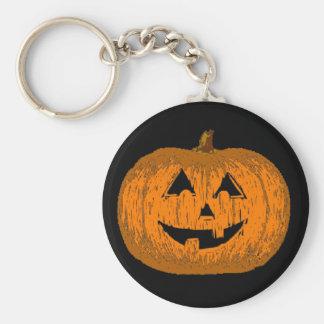 Halloween Jack O Lantern Pumpkin Keychain
