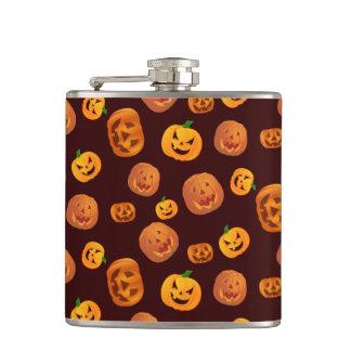 Halloween Jack-O-Lantern Pumpkin Pattern Hip Flask