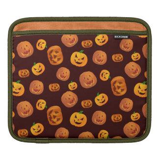 Halloween Jack-O-Lantern Pumpkin Pattern iPad Sleeve