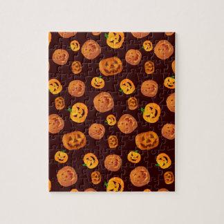 Halloween Jack-O-Lantern Pumpkin Pattern Jigsaw Puzzle
