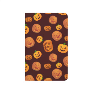 Halloween Jack-O-Lantern Pumpkin Pattern Journal