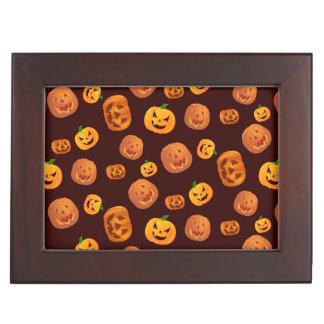 Halloween Jack-O-Lantern Pumpkin Pattern Keepsake Box