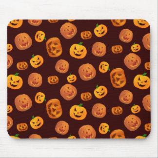 Halloween Jack-O-Lantern Pumpkin Pattern Mouse Pad