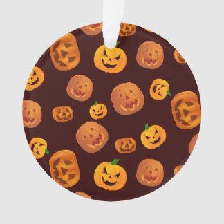 Halloween Jack-O-Lantern Pumpkin Pattern Ornament