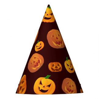 Halloween Jack-O-Lantern Pumpkin Pattern Party Hat