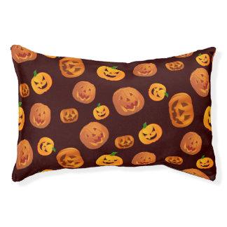 Halloween Jack-O-Lantern Pumpkin Pattern Pet Bed