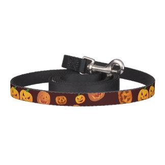 Halloween Jack-O-Lantern Pumpkin Pattern Pet Lead