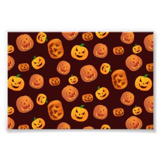 Halloween Jack-O-Lantern Pumpkin Pattern Photo Print