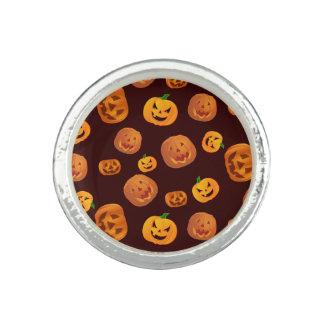 Halloween Jack-O-Lantern Pumpkin Pattern Photo Rings