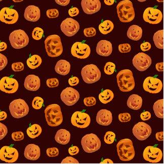 Halloween Jack-O-Lantern Pumpkin Pattern Photo Sculpture Button