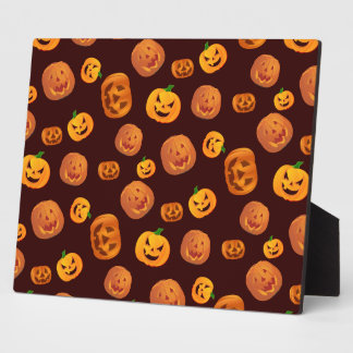 Halloween Jack-O-Lantern Pumpkin Pattern Plaque