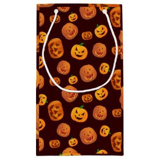 Halloween Jack-O-Lantern Pumpkin Pattern Small Gift Bag