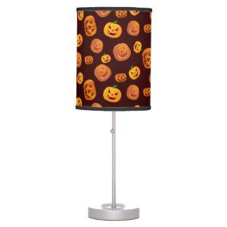 Halloween Jack-O-Lantern Pumpkin Pattern Table Lamp