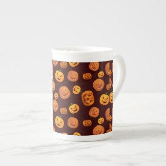 Halloween Jack-O-Lantern Pumpkin Pattern Tea Cup