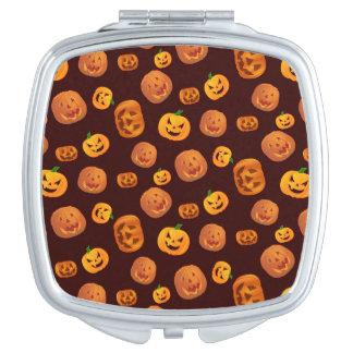 Halloween Jack-O-Lantern Pumpkin Pattern Vanity Mirrors