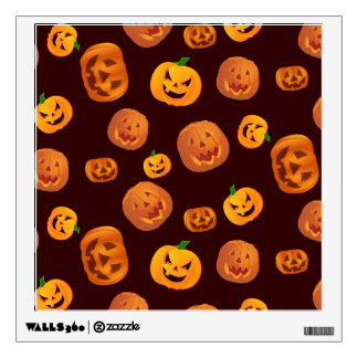 Halloween Jack-O-Lantern Pumpkin Pattern Wall Decal