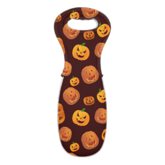 Halloween Jack-O-Lantern Pumpkin Pattern Wine Bag