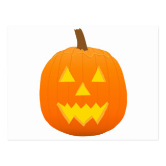 Halloween: Jack-O-Lantern: Pumpkin: Postcard