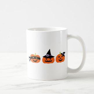 Halloween Jack O Lantern Pumpkins Faces Coffee Mugs