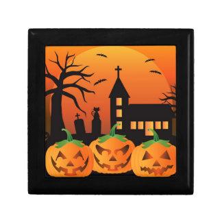 Halloween Jack O Lantern Pumpkins Illustration Gift Box