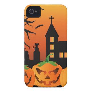 Halloween Jack O Lantern Pumpkins Illustration iPhone 4 Cover