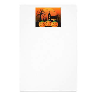Halloween Jack O Lantern Pumpkins Illustration Stationery