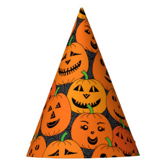Halloween Jack-o'-lantern Pumpkins Party Hat
