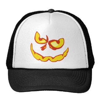 Halloween Jack O Lantern Scary Face Mesh Hats