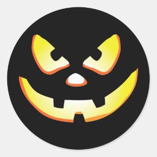 Halloween Jack-O-Lantern Round Sticker